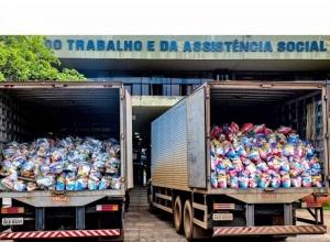 Governo do Tocantins Inicia nova etapa de entrega de alimentos na região sul e no Vale do Araguaia
