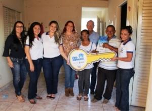 Casa abandonada na Arso 131, em Palmas, é entregue a nova família