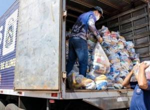 Governo do Tocantins atende Cras de seis municípios com 17 toneladas em kits de alimentos