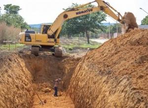 Começa obra de implantação de macrodrenagem que atenderá o Jardim Janaína e o Lago Sul
