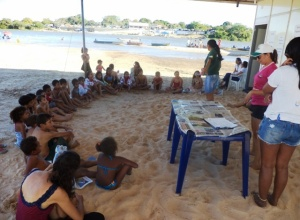 Parceria resulta em blitz educativa e oficina ambiental em Araguacema