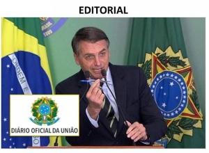 DIÁRIO OFICIAL DA UNIÃO TRAZ PROJETO SANCIONADO POR BOLSONARO QUE BENEFICIA TOCANTINS E SEUS MUNICÍPIOS