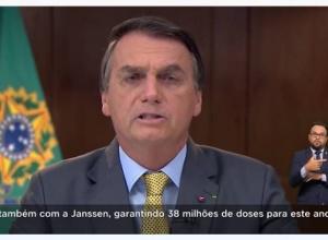 Bolsonaro presta solidariedade às famílias, às vésperas das 300 mil mortes, (com vídeo)