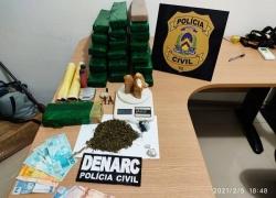 Em Araguaína, Divisão de Narcóticos da Polícia Civil apreende grande quantidade de drogas e prende quatro traficantes