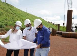 Obras da nova ponte de Porto  Nacional seguem em ritmo acelerado