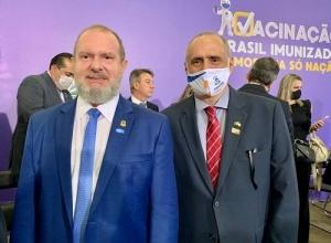 Governador e Secretário da Saúde participam do lançamento do Plano Nacional de Imunização contra a Covid-19