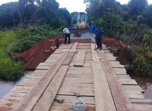Governo do Tocantins realiza reconstrução de ponte no norte do estado