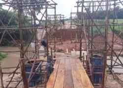 Governo do Tocantins dá início à obra de construção de uma ponte sobre o Córrego Tristeza, na região do Bico do Papagaio
