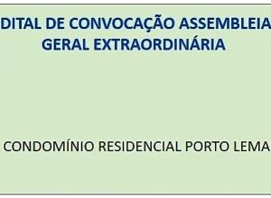 EDITAL DE CONVOCAÇÃO - CONDOMÍNIO RESIDENCIAL PORTO LEMAN