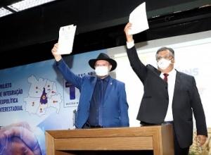 Assinatura de acordo para viabilização da ponte entre Filadélfia e Carolina marca início de agenda bilateral Tocantins e Maranhão