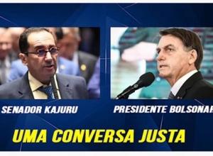 Em ligação, Bolsonaro pede a senador Kajuru que CPI da Covid mire governadores (vídeo e audio)