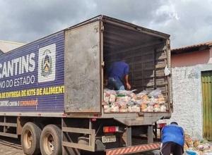 Governo do Tocantins atende aproximadamente 8 mil famílias com 112 toneladas em cestas básicas