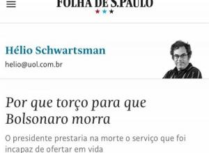 Ministro pede inquérito contra Folha após artigo que pede morte do presidente