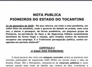 PIONEIROS DO ESTADO DO TOCANTINS