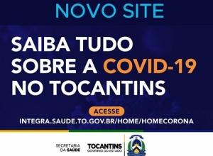 Governo do Tocantins conta com nova plataforma de informações Covid-19