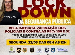 Polícias Civil, Federal, Rodoviária, GM e demais servidores paralisam atividades durante a manhã desta segunda-feira, 22, no Tocantins